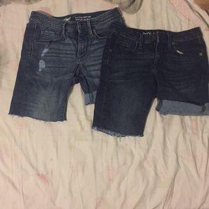 Denim - Jean shorts juniors medium and dark wash